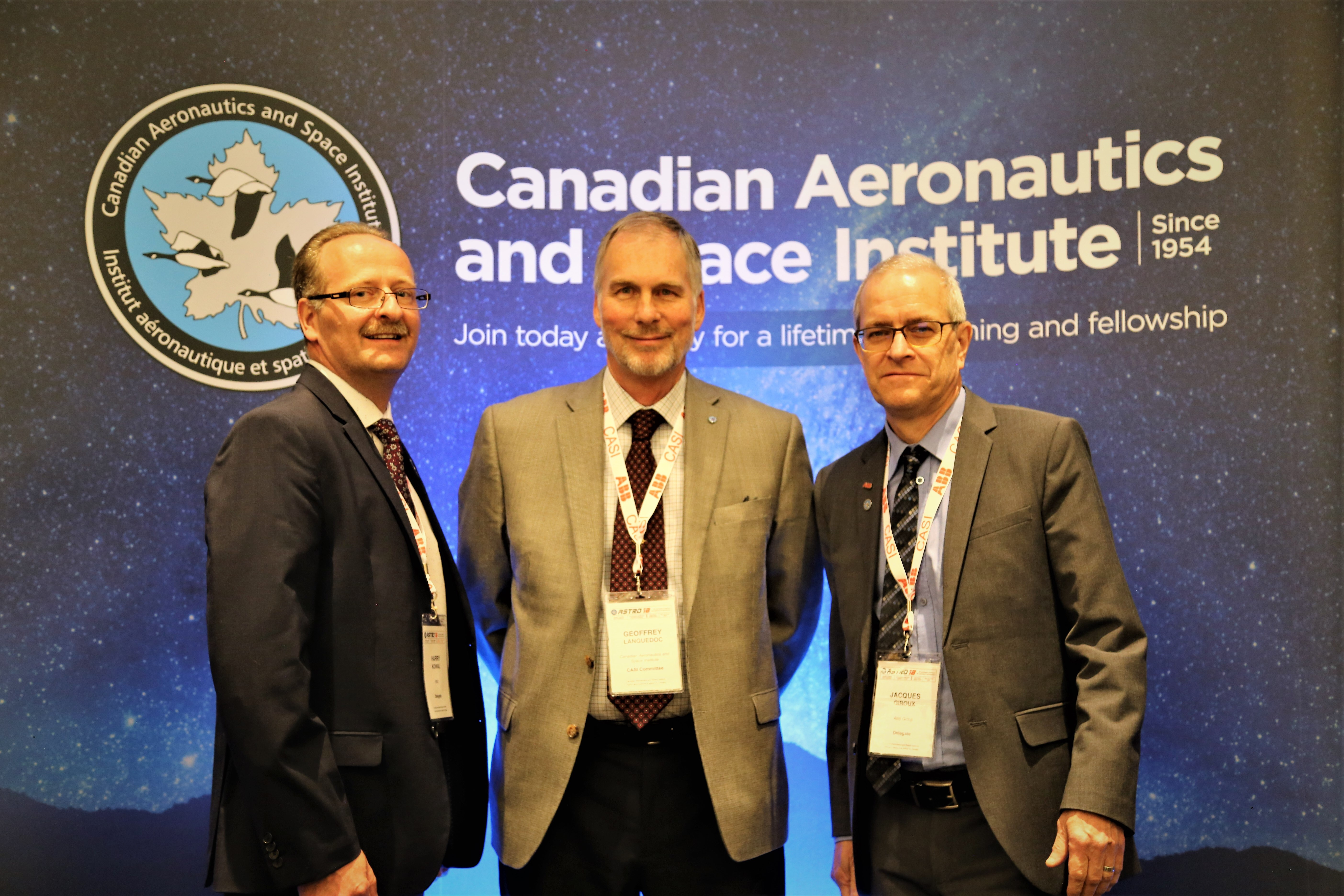 (L to R) Harry Kowal, Geoff Languedoc, Jacques Giroux